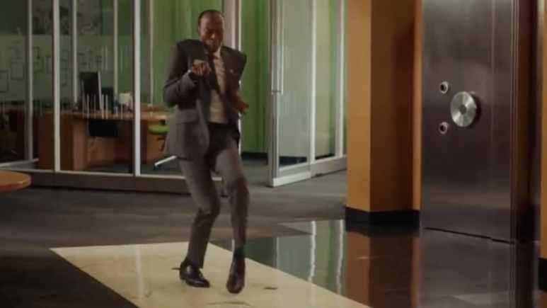Bank worker dancing in TD Bank commercial