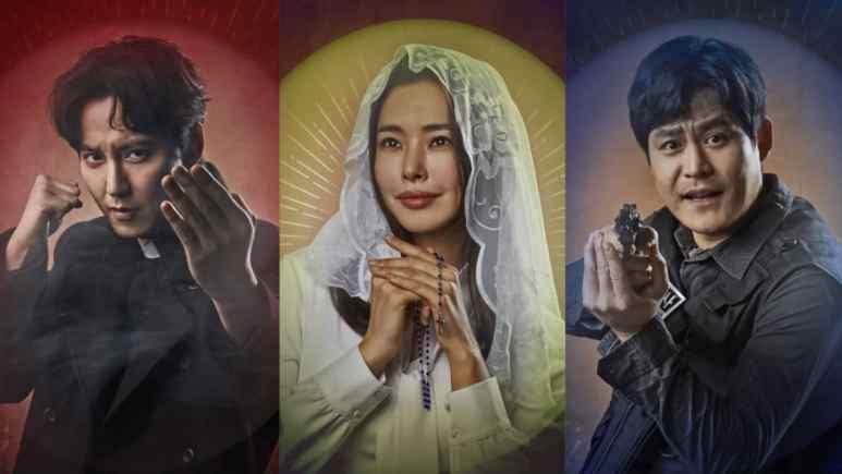 Ji-won Baek, Joon Go, and Lee Hanee in The Fiery Priest