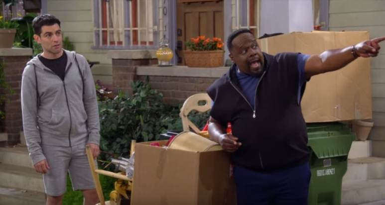 Cedric the Entertainer and Max Greenfield on The Neighborhood cast