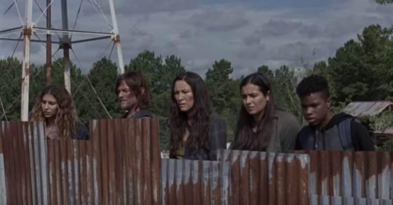 Eleanor Matsuura (center) plays Yumiko on The Walking Dead cast.
