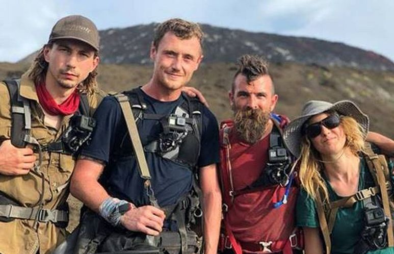 This season in New Guinea, its Parker Schnabel, Sam Brown, Fred Lewis and Karla Ann. Pic credit: Discovery