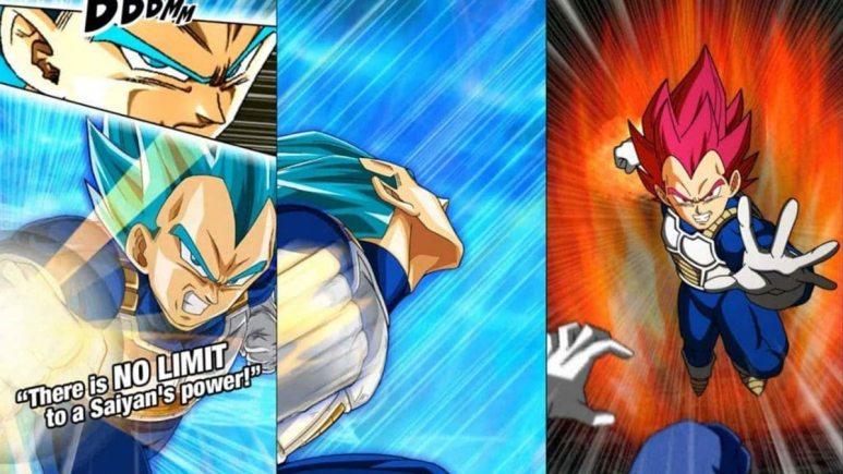 The Dragon Ball Z Dokkan Transforming Vegeta card