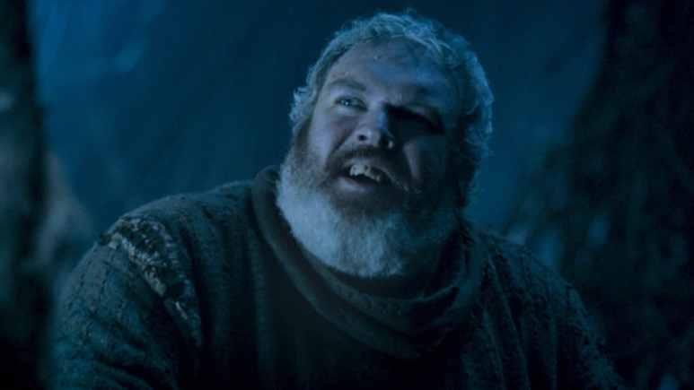 Hodor (Kristian Nairn) in happier GoT times before the door scene. Pic credit: HBO