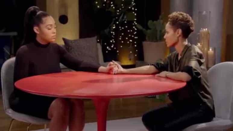 Jordyn Woods and Jada Pinkett Smith on Red Table Talk