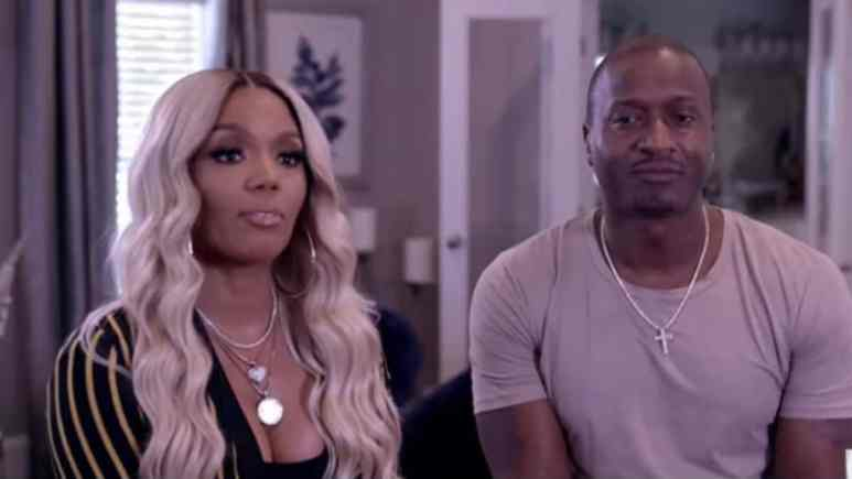 Kirk and Rasheeda Frost during their confessional on Hollywood Medium with Tyler Henry