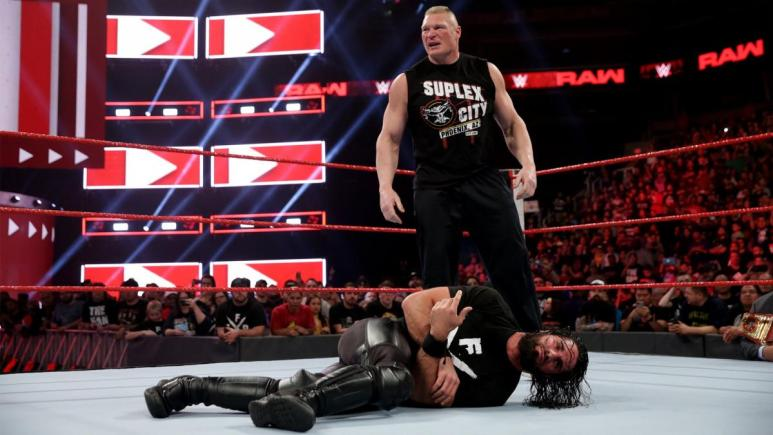 Seth Rollins and Brock Lesnar in WWE