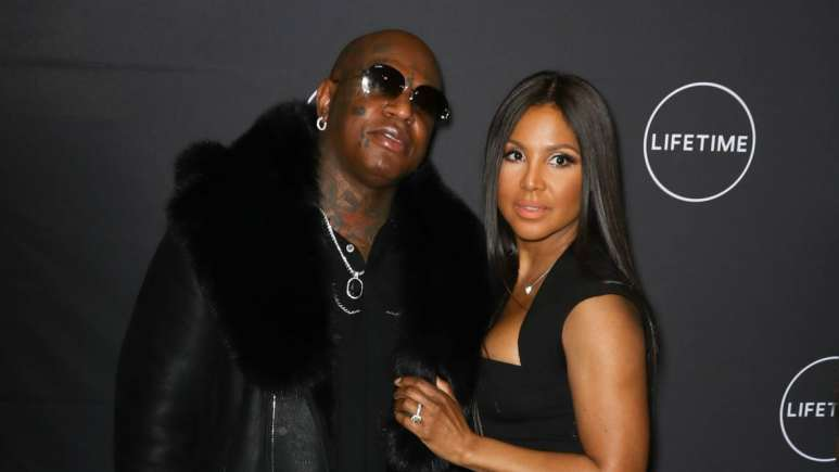 Birdman and Toni Braxton at the premiere of 'Faith Under Fire: The Antoinette Tuff Story' in New York City.