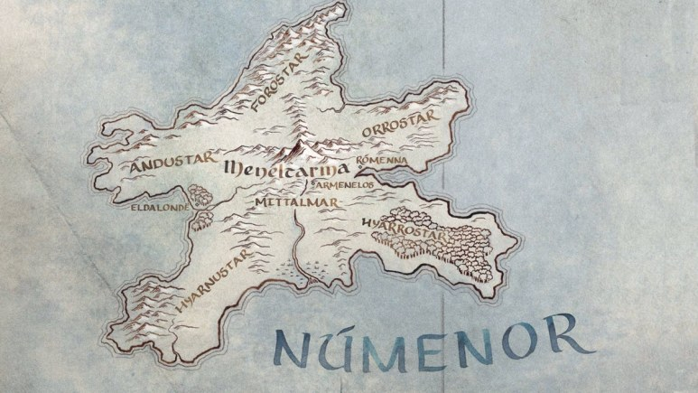 Map of Númenor