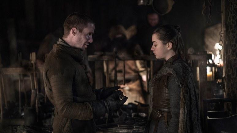 Arya Gendry scene with Arya Stark on Game of Thrones