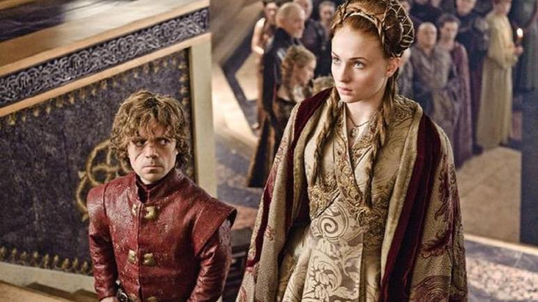Peter Dinklage and Sophie Turner in Game of Thrones