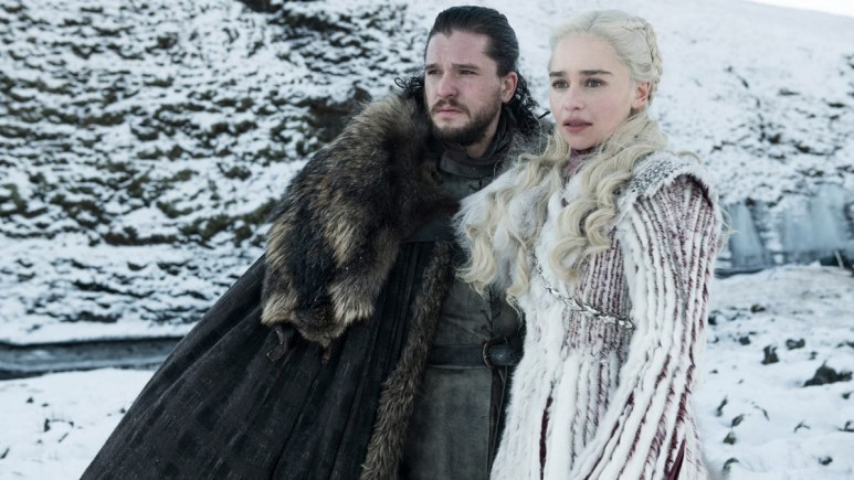 Jon Snow and Daenerys Targaryen on Game of Thrones