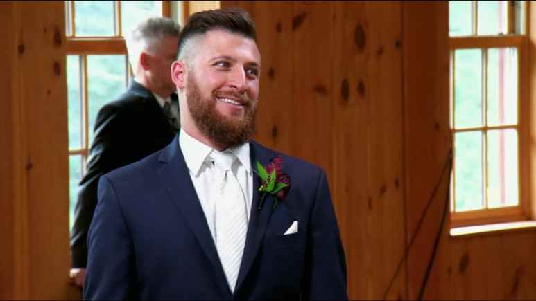 Luke Cuccurullo on his wedding day on Married at First Sight