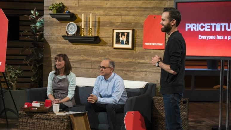 Dan Killian and friends demonstrate Pricetitution on Shark Tank.