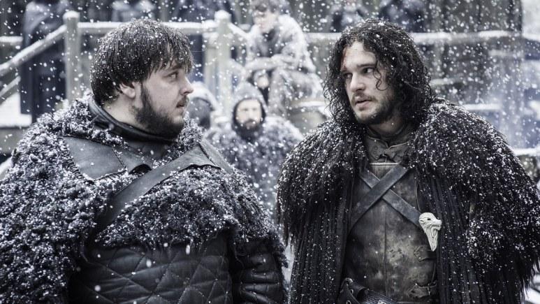 Samwell Tarly and Aegon Targaryen Jon Snow