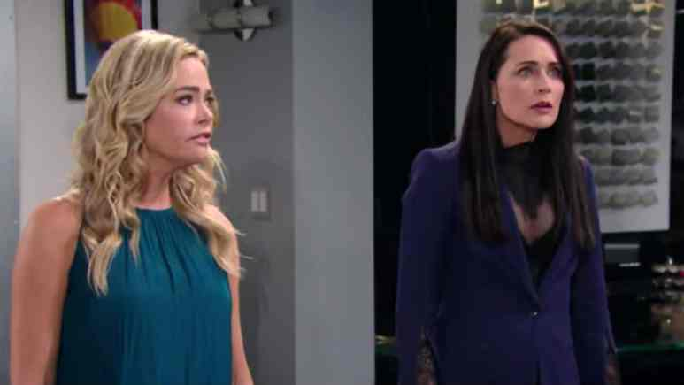 Denise Richards and Rena Sofer as Shauna and Quinn on the Bold and the Beautiful