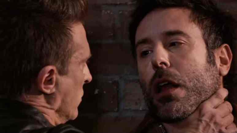 Steve Burton and Coby Ryan McLaughlin as Jason and Shiloh on General Hospital
