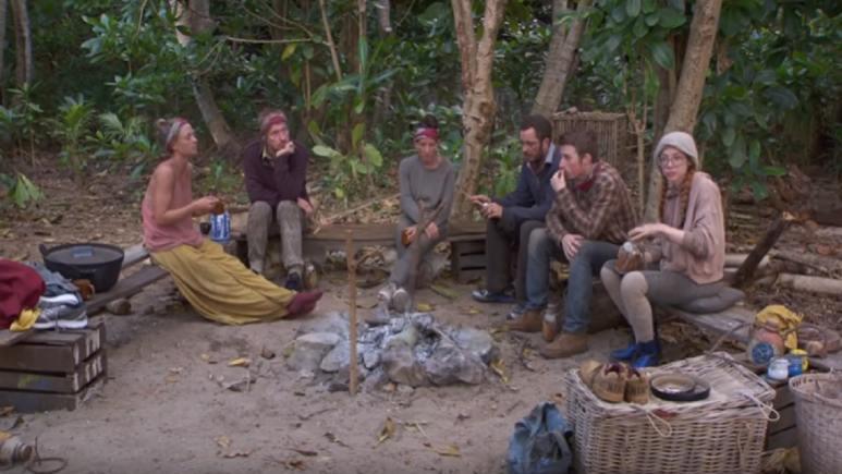 Survivor cast during episode 11 of Season 28.