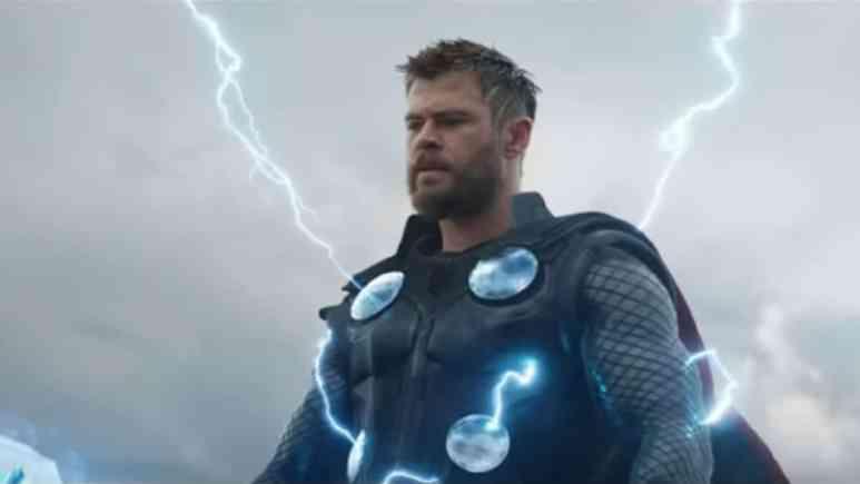 Chris Hemsworth as Thor in Avengers: Endgame.