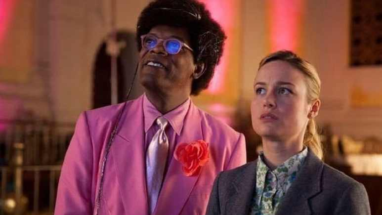 Samuel L. Jackson and Brie Larson in Unicorn Store
