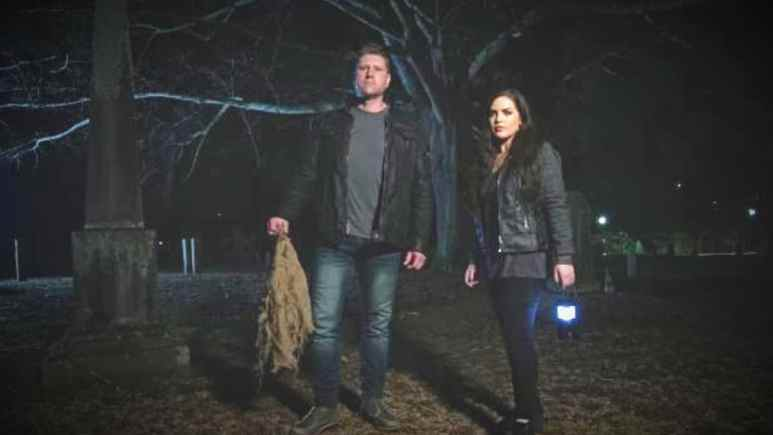 Ghost Bait stars Bob Magill and Tina Storer make the haunted face their ghostly fears. Pic credit: Travel Channel