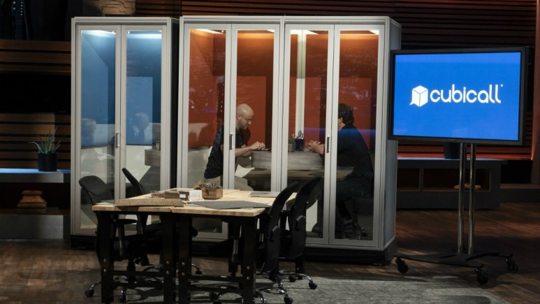 Nick Pucci presents Cubicall on Shark Tank in hopes of getting a deal.