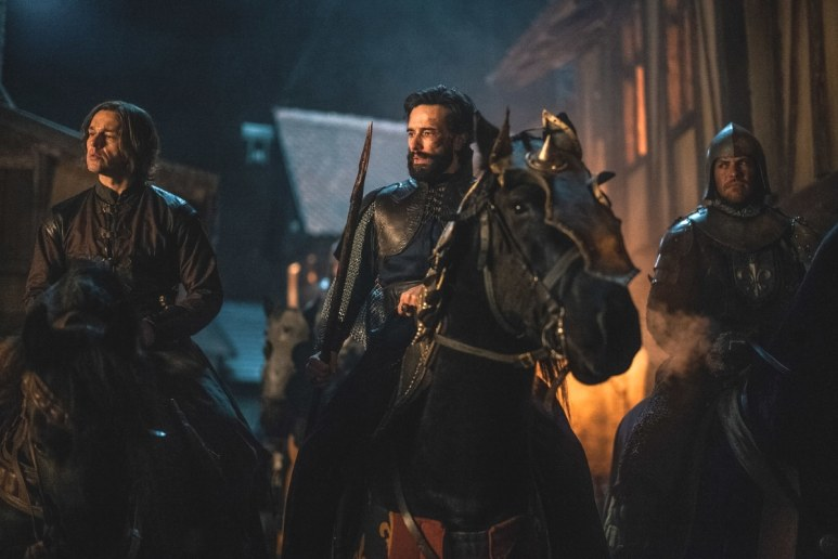 William DeNogaret and king Philip IV of France on horseback