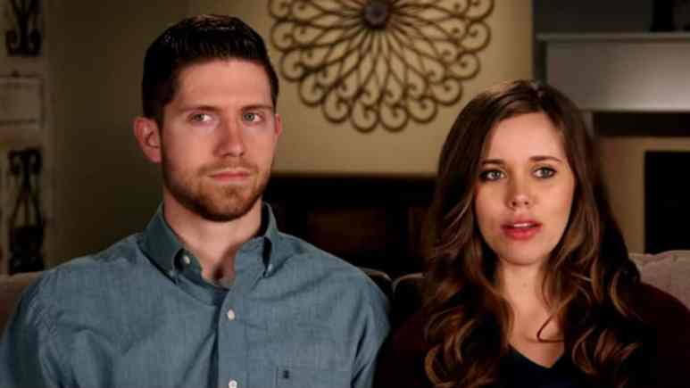 Jessa and Ben Seewald in a confessional for Counting On.