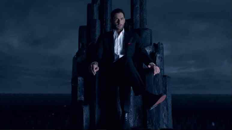 Lucifer Morningstar sits on his throne