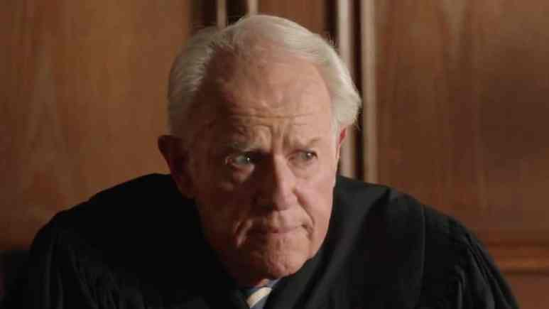 Mike Farrell as the judge on NCIS