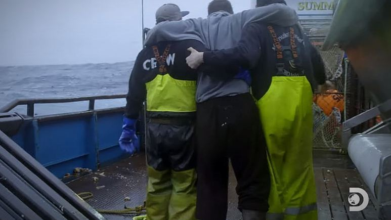 The Summer Bay crew helps an injured deckhand, but who? Pic credit: Discovery