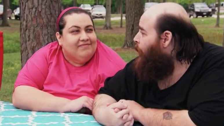 Vianey and Allen on a date at the park