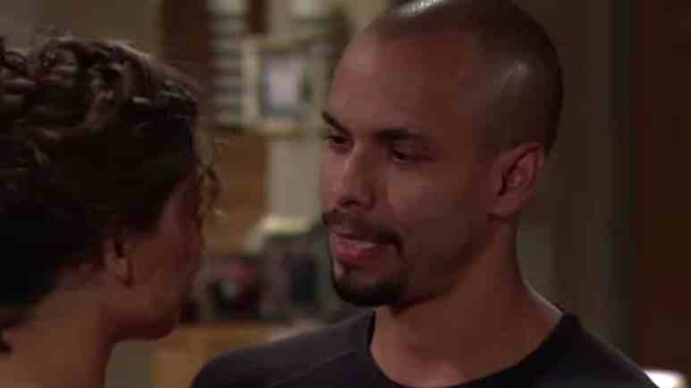 Brytni Sarpy and Bryton James as Elena and Devon on The Young and the Restless.