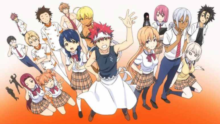 Several of the Food Wars! Shokugeki no Soma characters