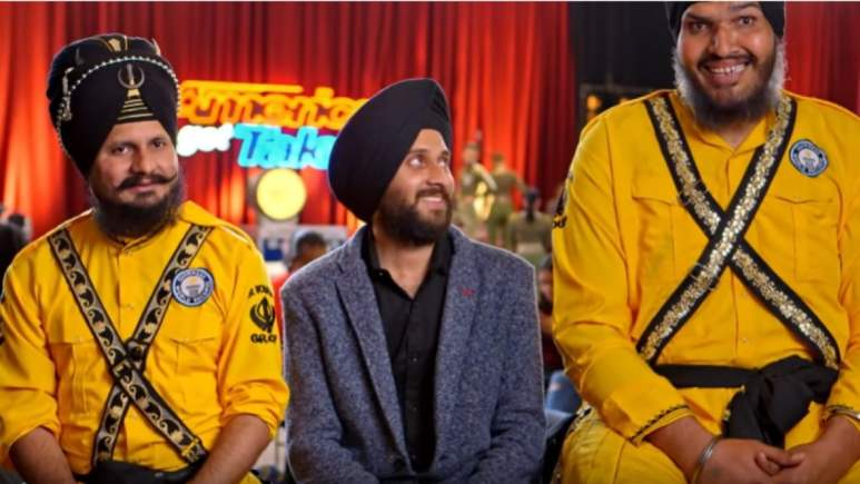 Karamjit and Kawaljit Singh of Bir Khalsa Group perform on AGT Season 14