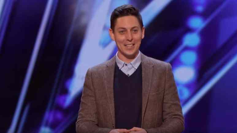 Nick Wallace performing on America's Got Talent.