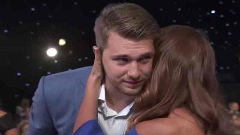 luka doncic's mom congratulates him on rookie of the year win