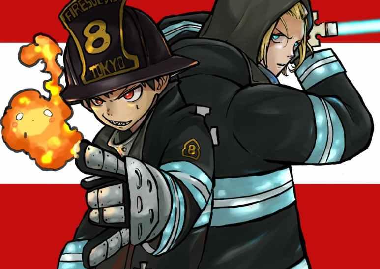 Fire Force anime Enen no Shouboutai Shinra And Arthur Boyle Small