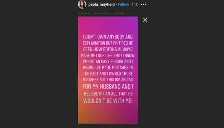Paola's Instagram message part 2
