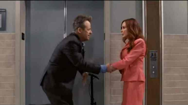 Kin Shriner and Jacklyn Zeman as Scott on Bobbie on General Hospital.