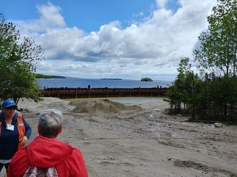 The coffer dam