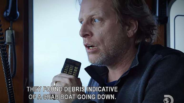 The moment Sig Hansen realized Hathaway was lost at sea. Pic credit: Discovery