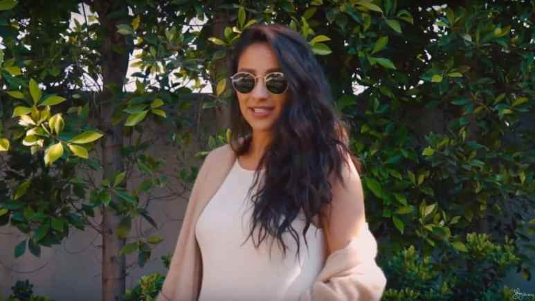 Shay Mitchell at the gender reveal