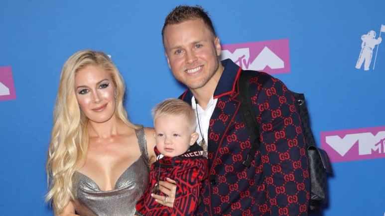 Heidi Montag and Spencer Pratt with their son