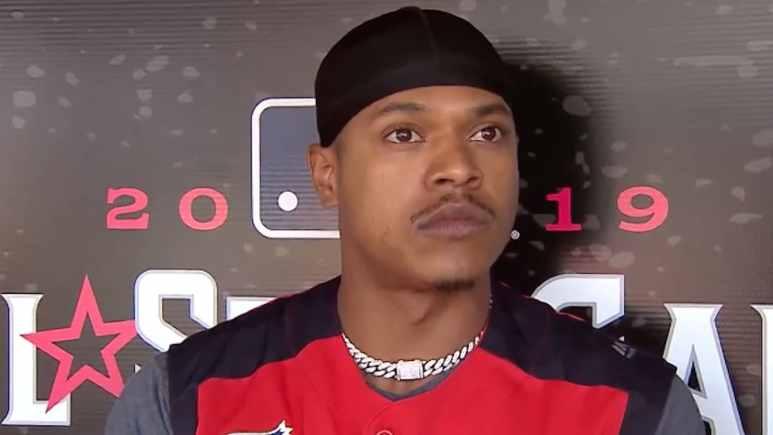toronto blue jays pitcher marcus stroman at MLB all star game