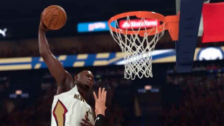zion williamson footage from nba 2k20 video game