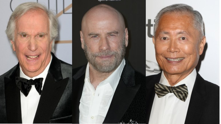 Henry Winkler, John Travolta and George Takei