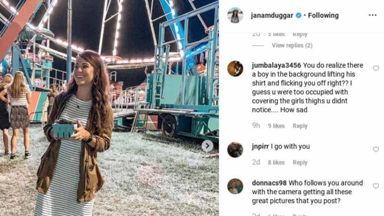 Jana Duggar's Instagram photo and comments.