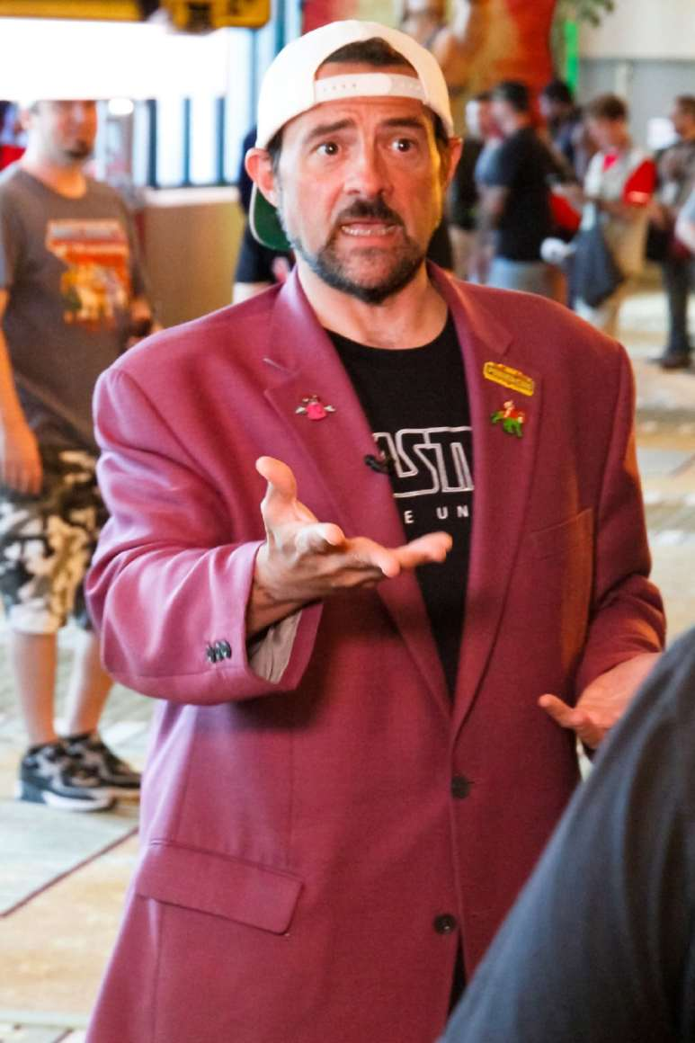 Kevin Smith talking about his new He-Man series. Photo cred: Michael Pao
