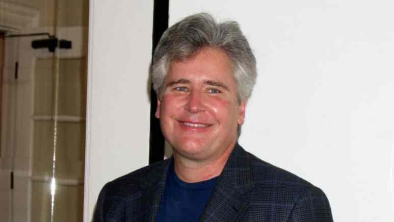Michael E Knight at an AMC fan club event.