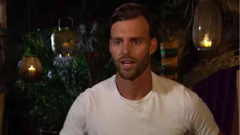 Robby Hayes during a confessional on Bachelor in Paradise.